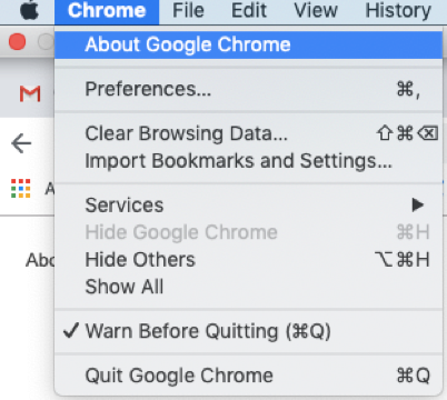 Chrome - Check installed version image