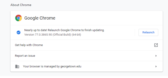 Chrome check for updates image