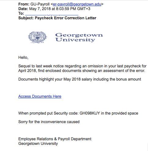 phish email May 8, 2018