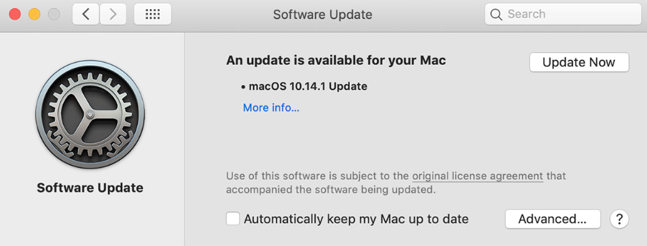 Software Update - Update Now image