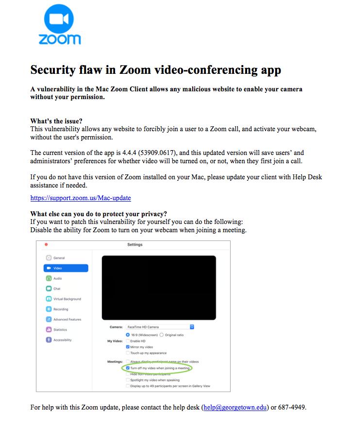 zoom alert